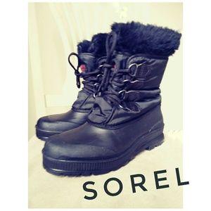 Sorel Winter Snow Boots Black Womens 9